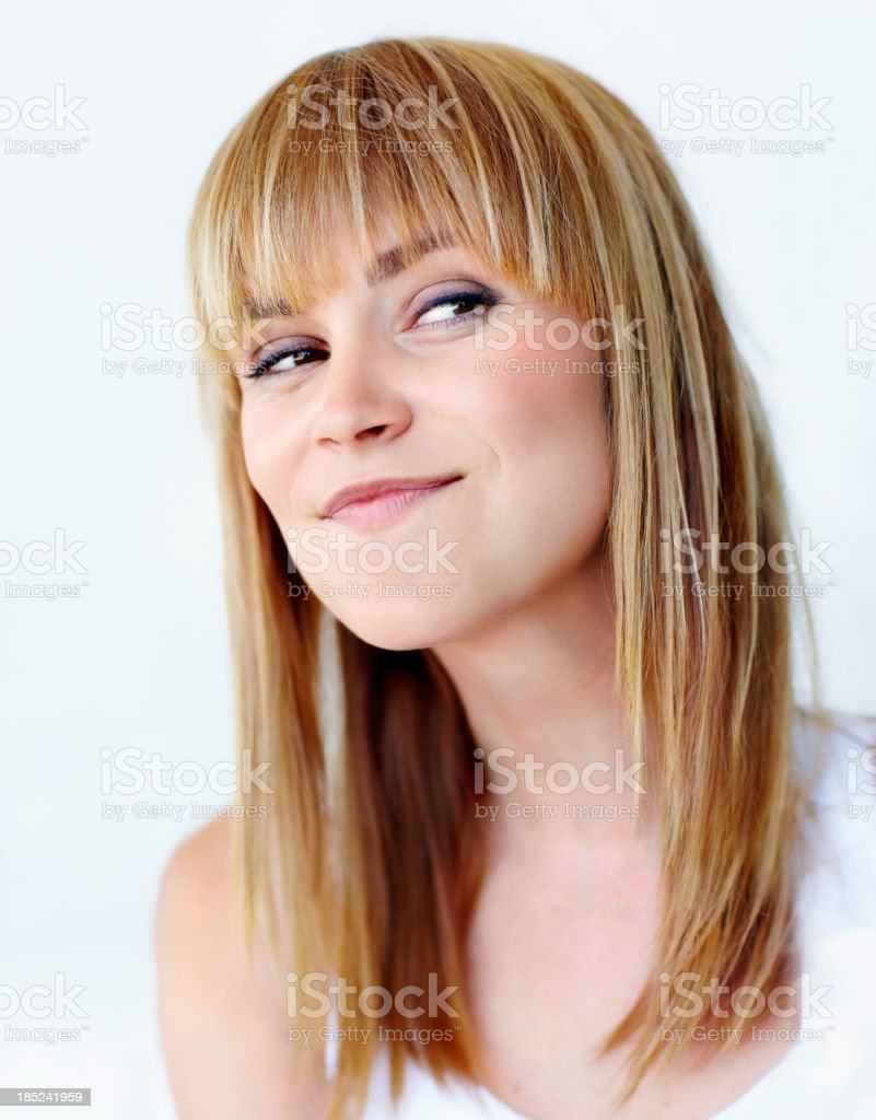 Coming up with a cunning plan... stock photo