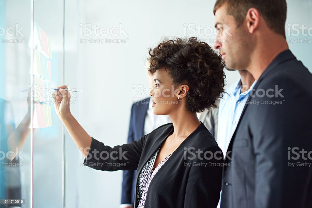 Coming up with a solid business plan stock photo