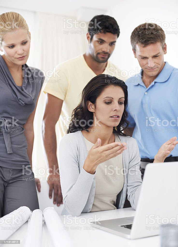 Coming up with solutions as a team royalty-free stock photo