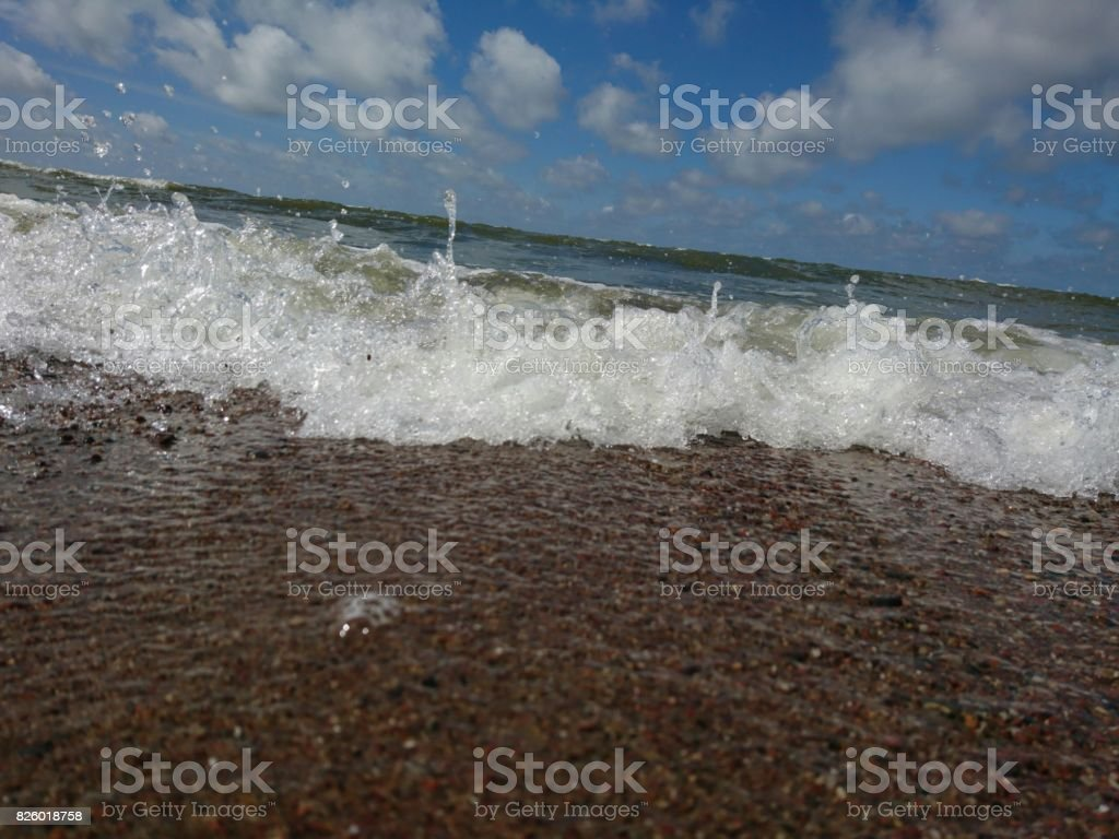 Coming waves stock photo