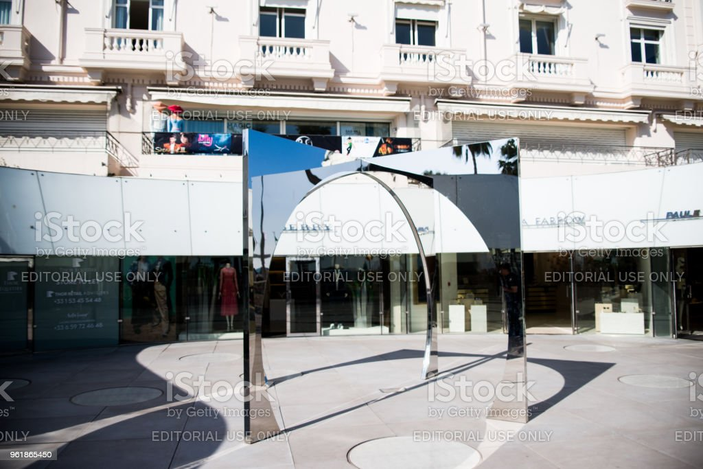 Comlex of luxury shop in,cannes stock photo