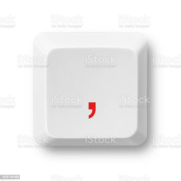 Comma symbol on a computer key isolated on white picture id528105489?b=1&k=6&m=528105489&s=612x612&h=r5cdntmmxdxfd8cgcnpokgtdcaffmxduy2vm15dyp10=