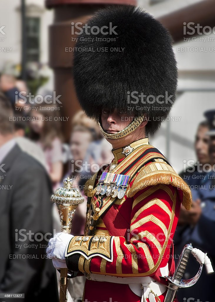 Commander of a Military Scotish highland tattoo royalty-free stock photo