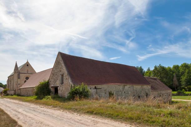 Commandery of Moisy-le-Temple in Montigny-l'Allier stock photo