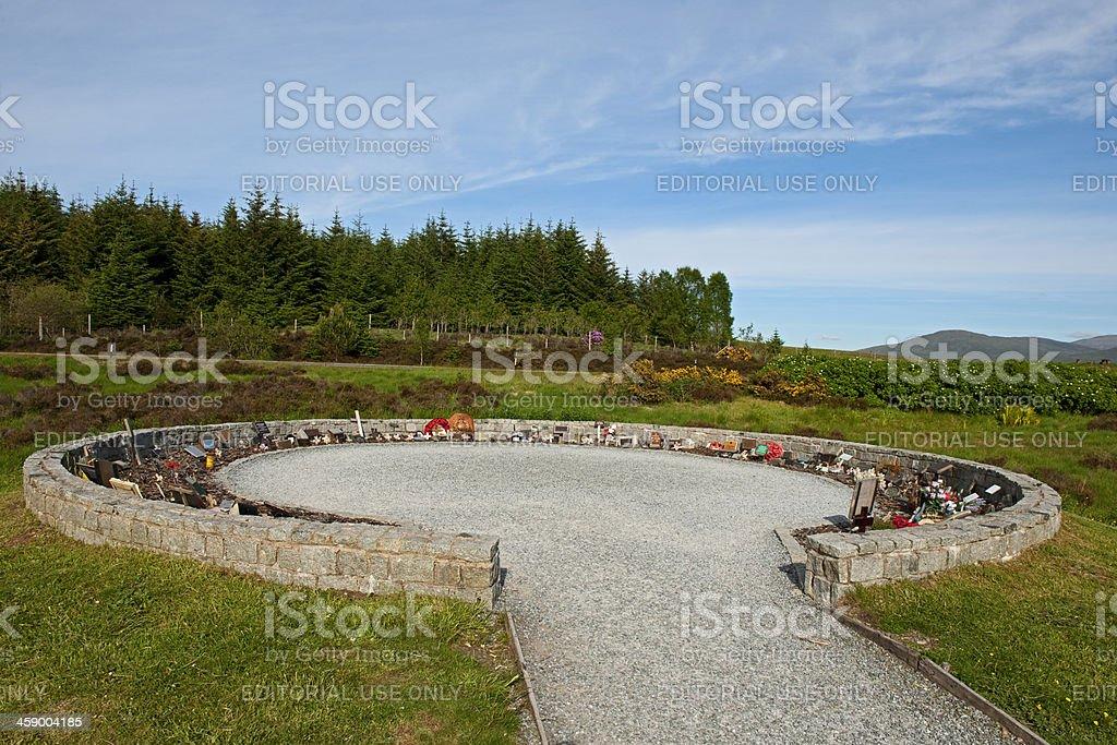 Commando Memorial - Area of Remembrance stock photo
