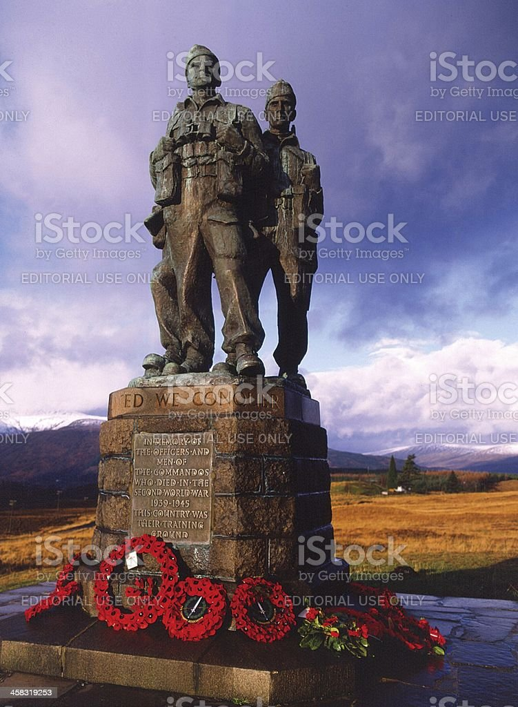 Commando Memorial Spean Bridge Lochaber Scotland stock photo