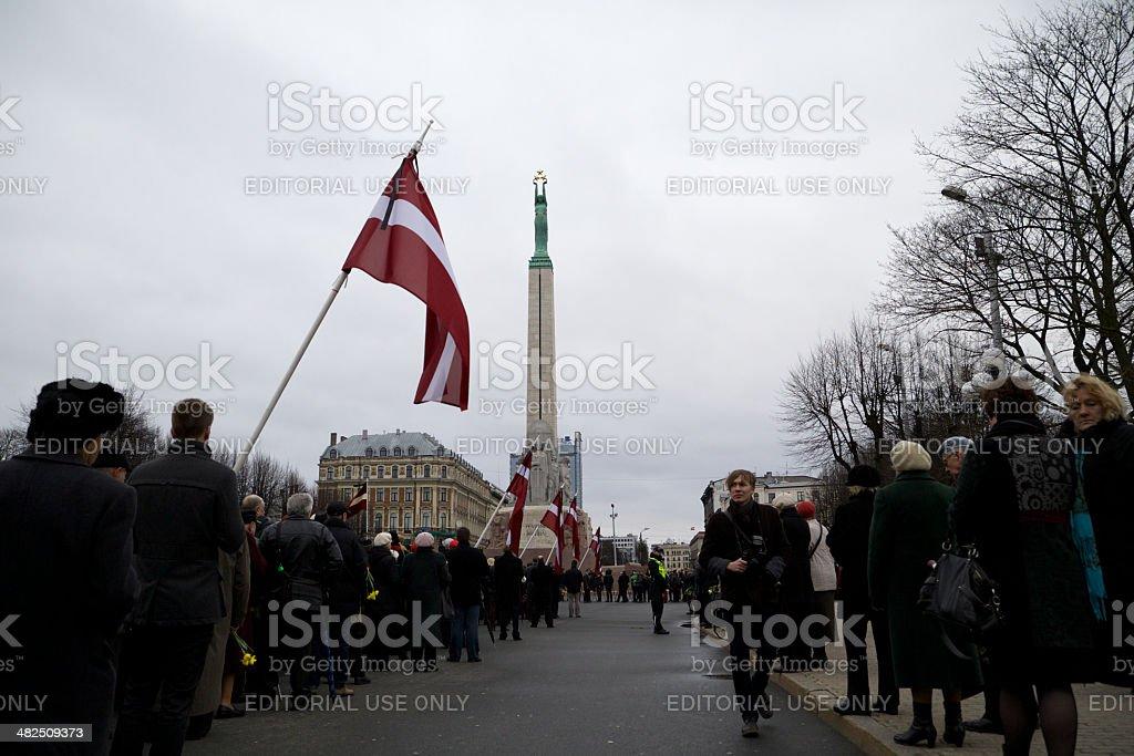 Commemoration ceremony - 13 stock photo
