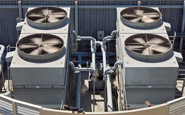 HVAC Commercial Air Condioners stock photo
