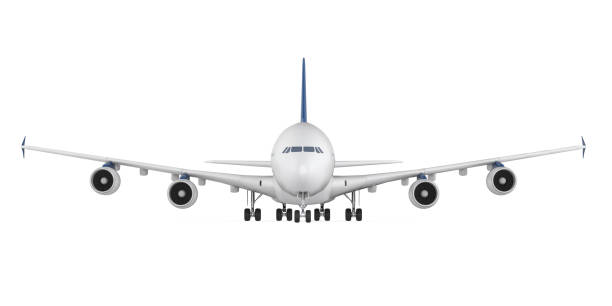 Commercial Aircraft Isolated stock photo