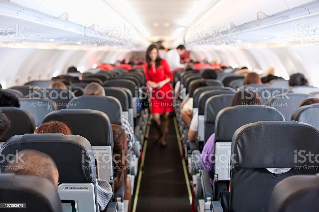 Kommerzielle airliner Kabine. – Foto