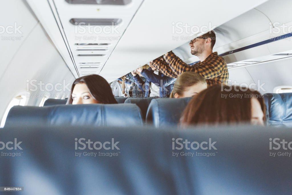 Verkehrsflugzeug-Kabine – Foto