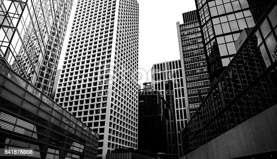 istock commercial building in Hong Kong with B&W color 841876666