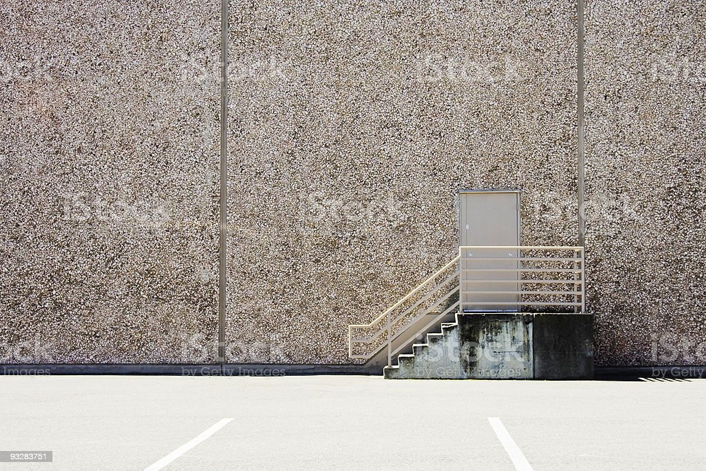 Commercial Building Rear Exit stock photo