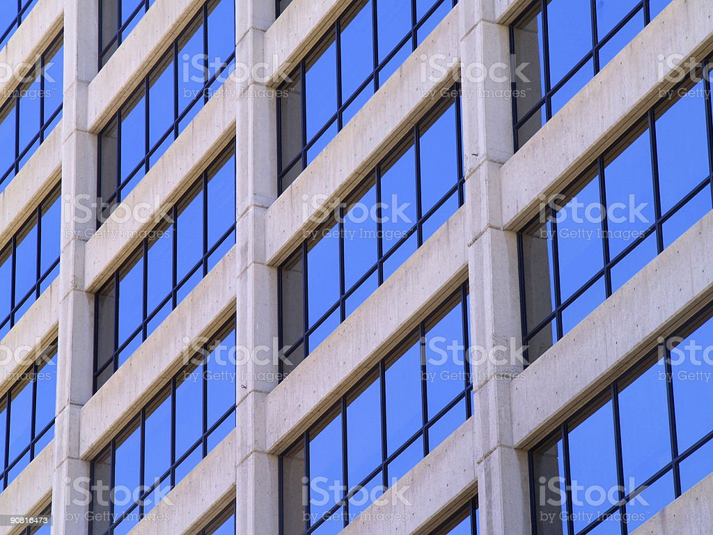 Commercial Building Windows royalty-free stock photo