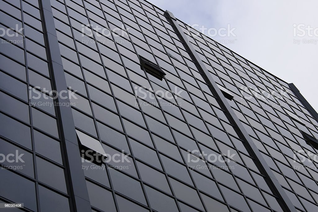 Commercial Building with Blue Sky royalty-free stock photo