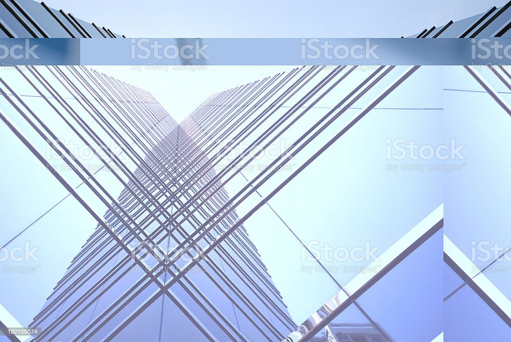 Commercial buildings in Hong Kong stock photo