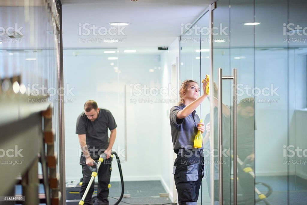 commercial deep clean stock photo