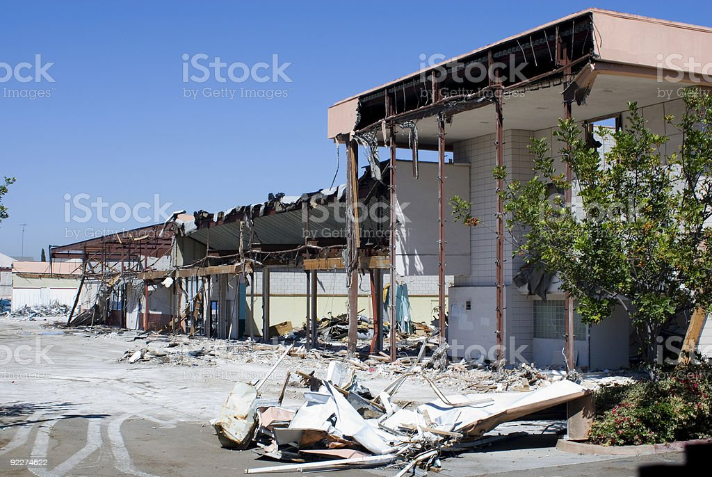Commercial Demolition stock photo