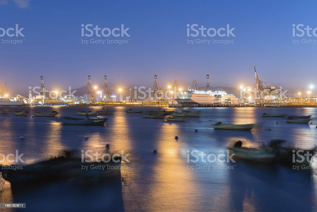 Commercial Dock royalty-free stock photo