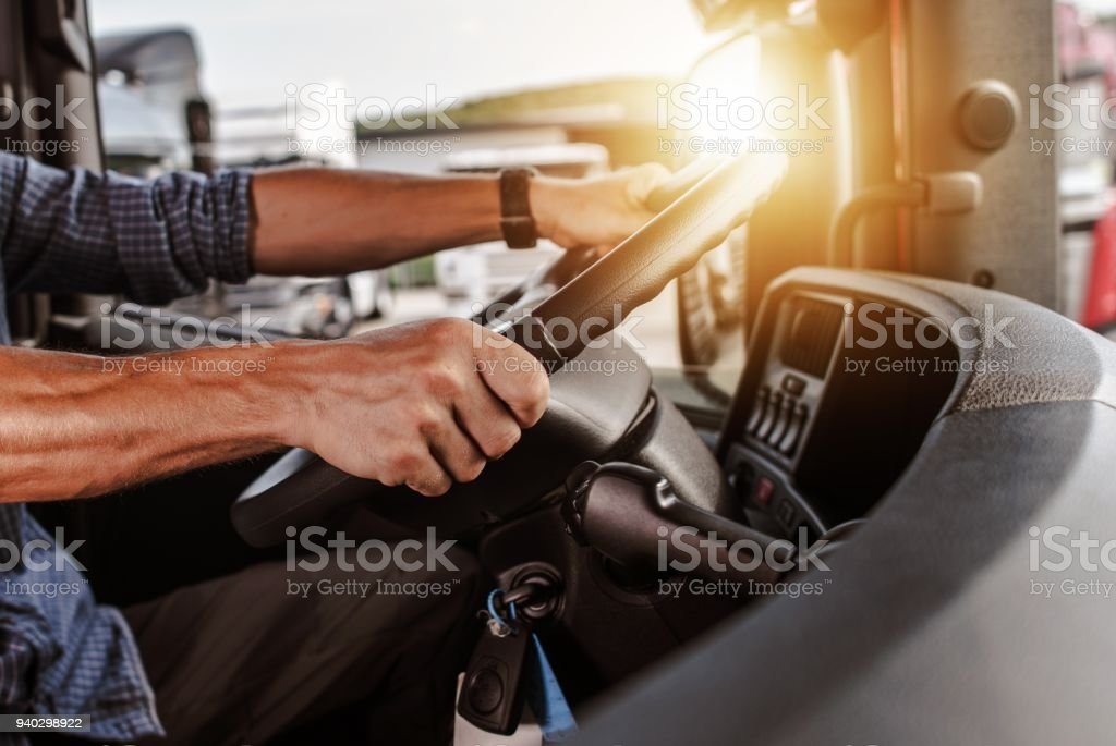 CDL Commercial Driver stock photo