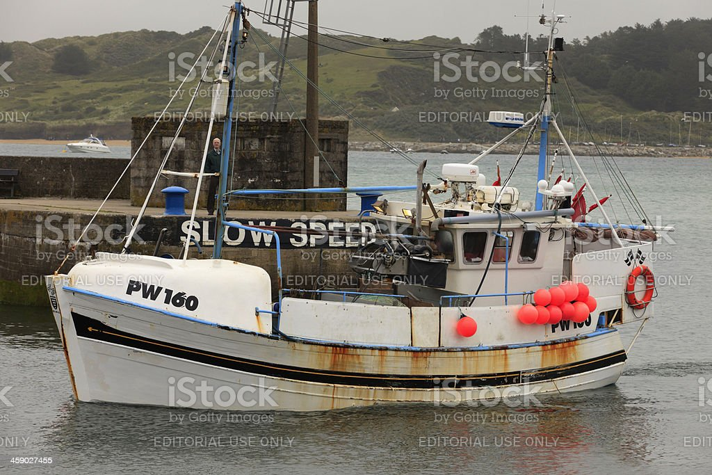 commercial fishing boat Fiona Mary from Padstow royalty-free stock photo
