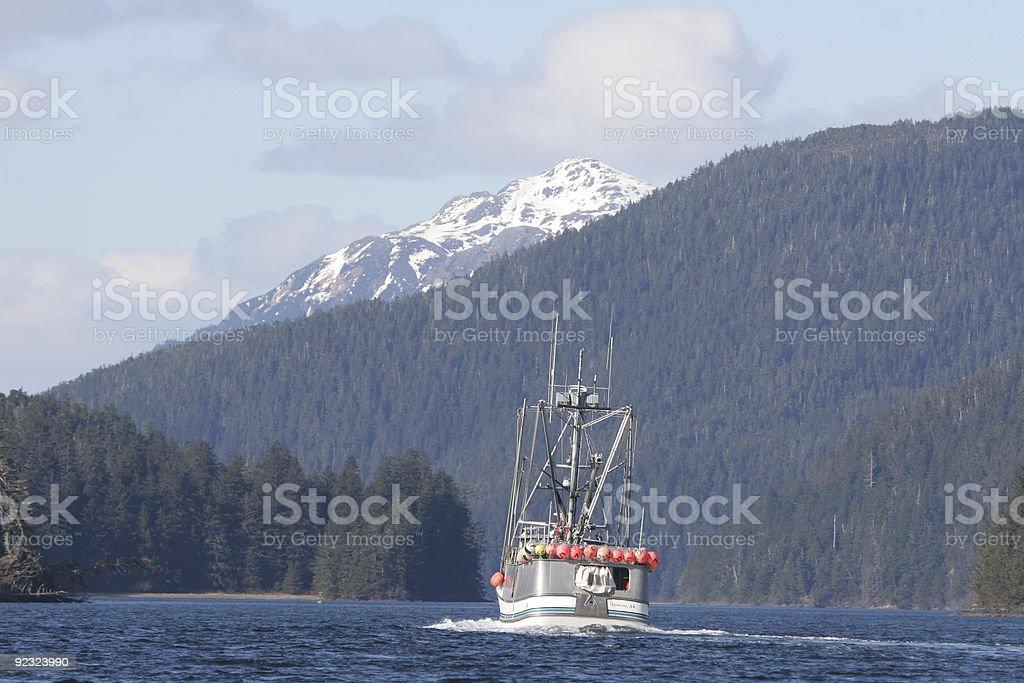 Commercial fishing in Alaska stock photo