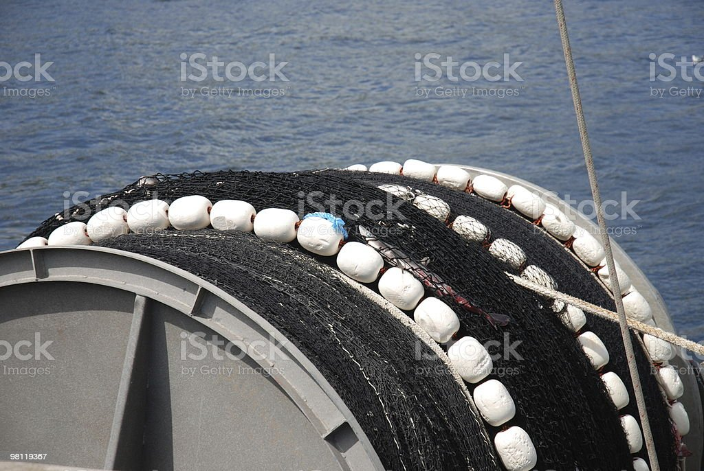 Commercial Fishing Net royalty-free stock photo