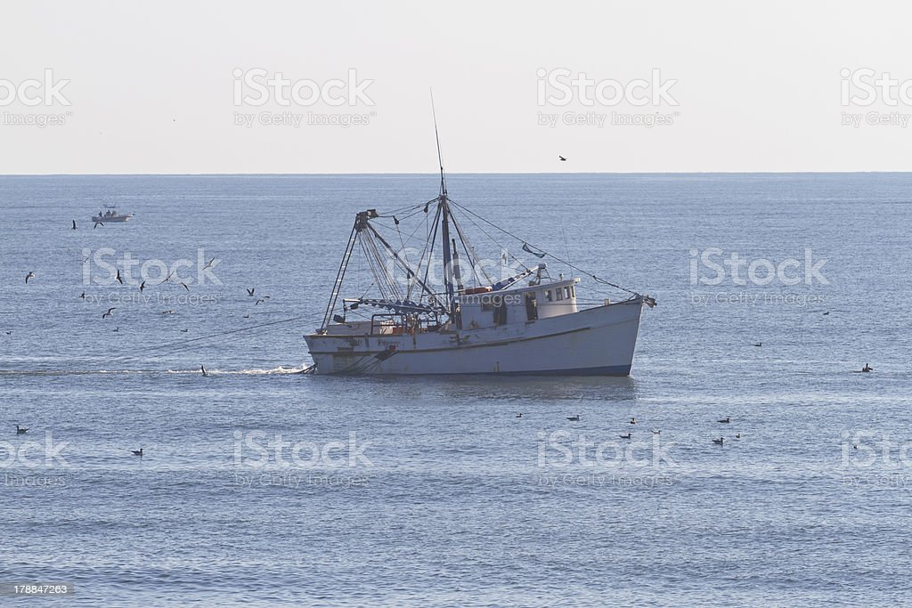 Commercial Fishing Trawler royalty-free stock photo