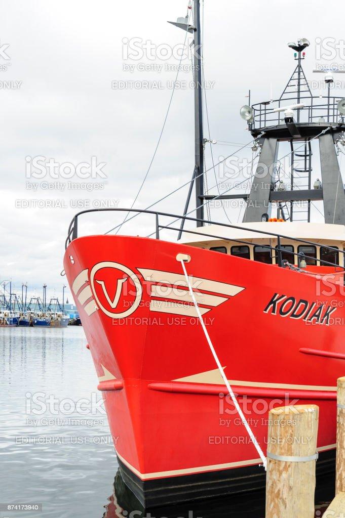 Commercial fishing vessel Kodiak stock photo