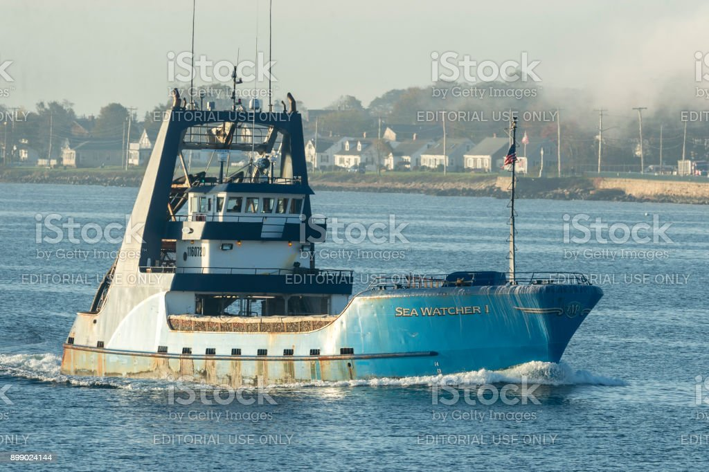 Commercial fishing vessel Sea Watcher I stock photo