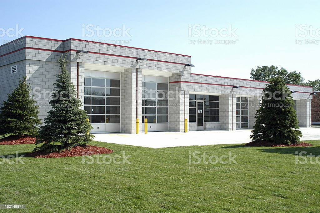 Commercial Garage Complex royalty-free stock photo