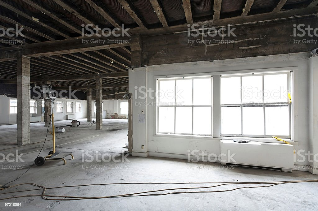 Commercial interior remodel in process royalty-free stock photo