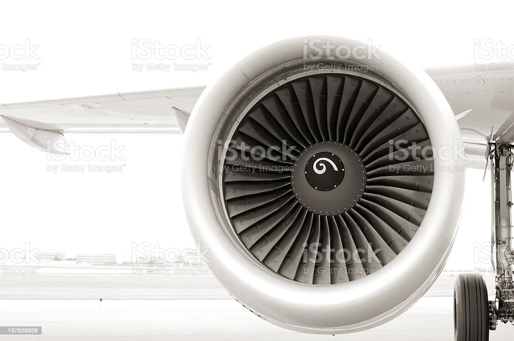 Commercial Jet Engine stock photo