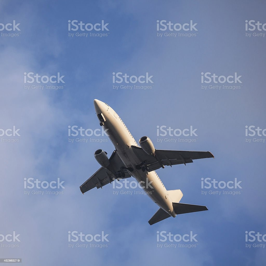 Commercial jet royalty-free stock photo