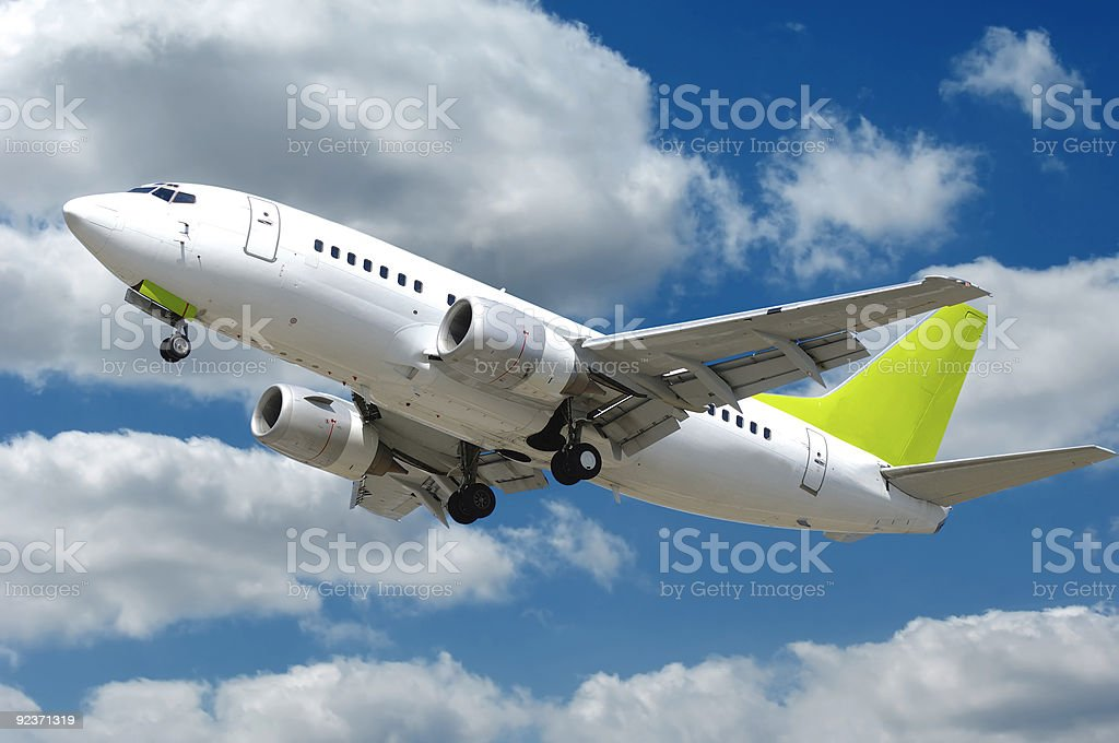 Commercial jet plane royalty-free stock photo