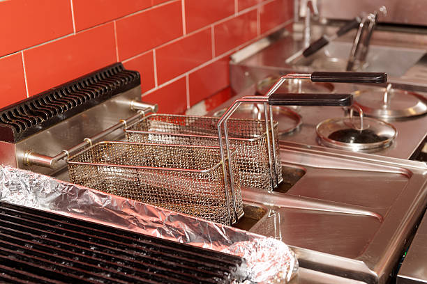 Commercial kitchen equipment stock photo