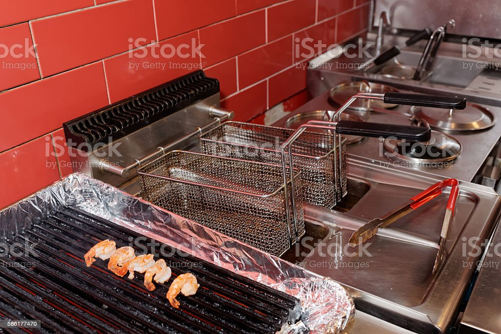 Commercial Kitchen Equipment Stock Photo & More Pictures of Barbecue ...