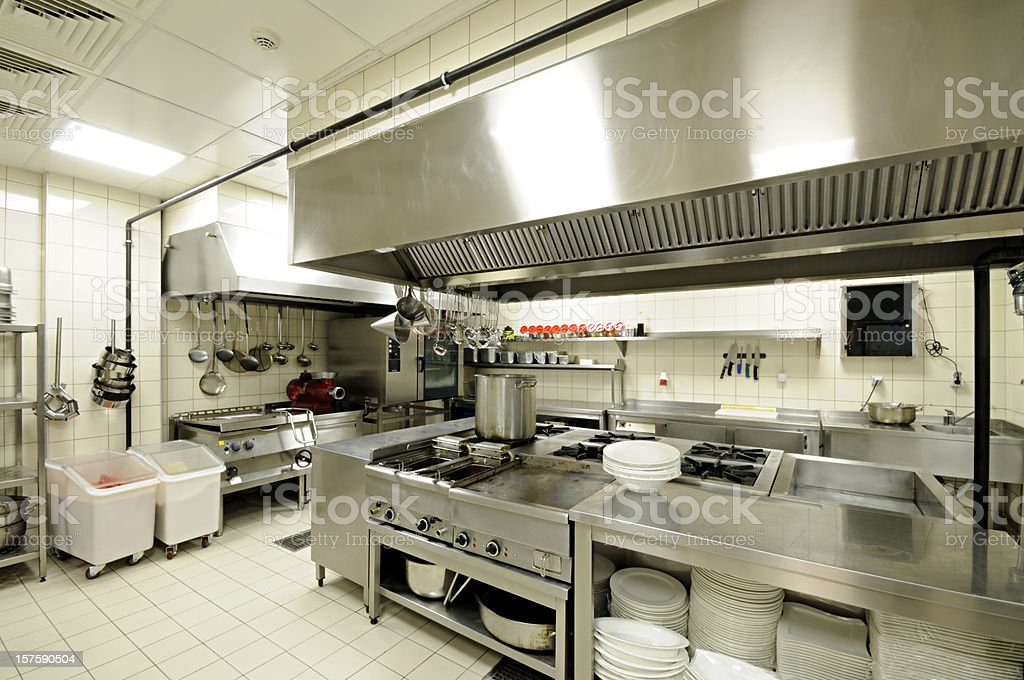 Commercial Kitchen stock photo