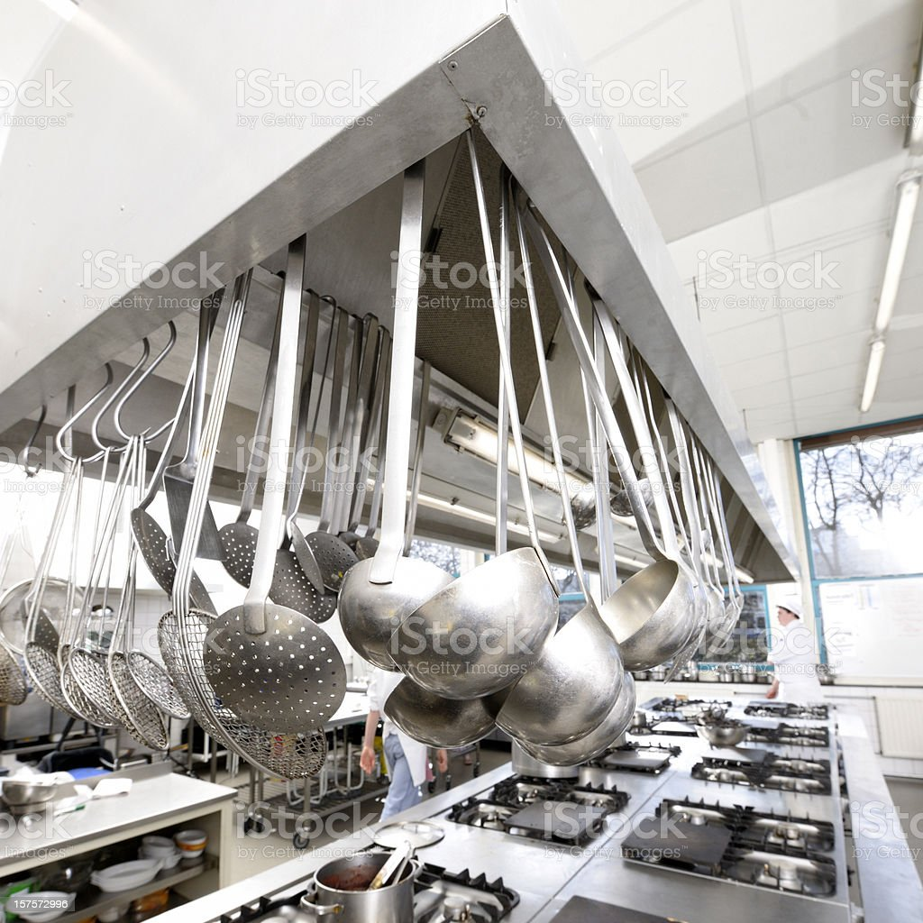 commercial kitchen XXL image royalty-free stock photo