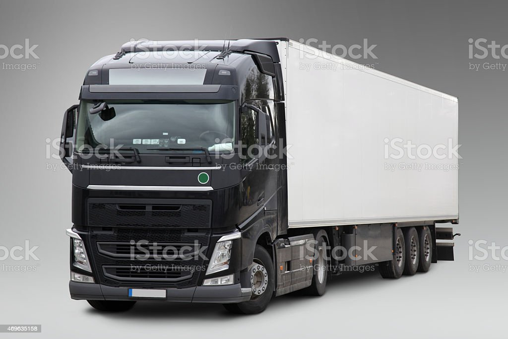 Commercial Land Vehicle (clipping path) stock photo