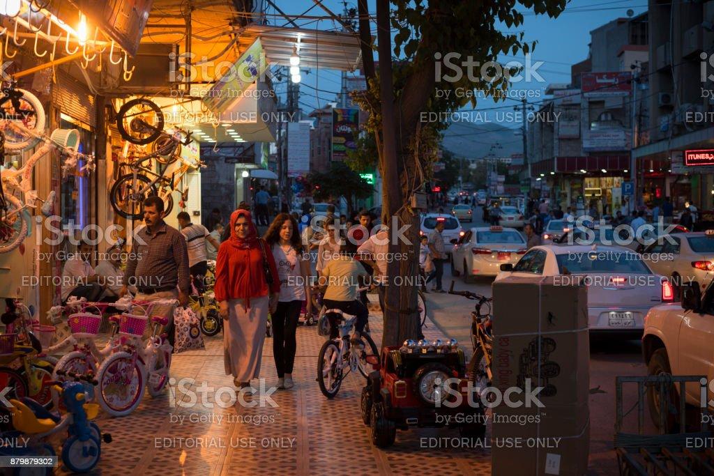 Wirtschaftsleben in der kurdischen Stadt Sulaymaniyah, Irak – Foto