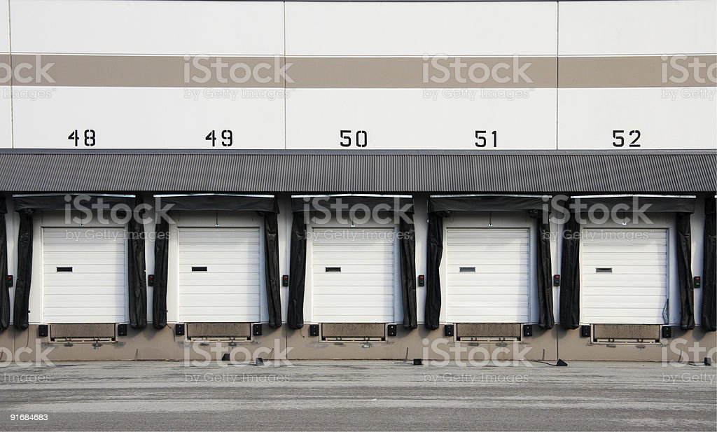Commercial Loading Dock royalty-free stock photo