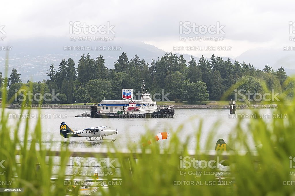 Commercial Marine Activity in Coal Harbour, Vancouver stock photo