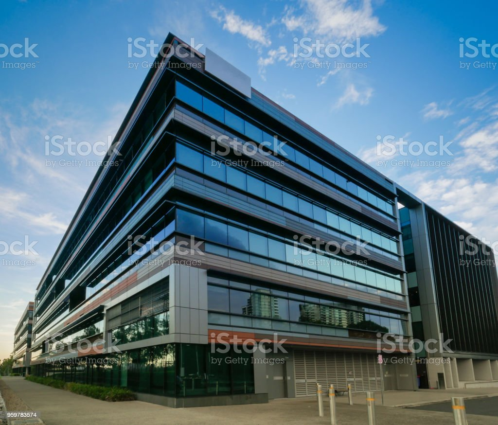 Commercial Offices in the city stock photo