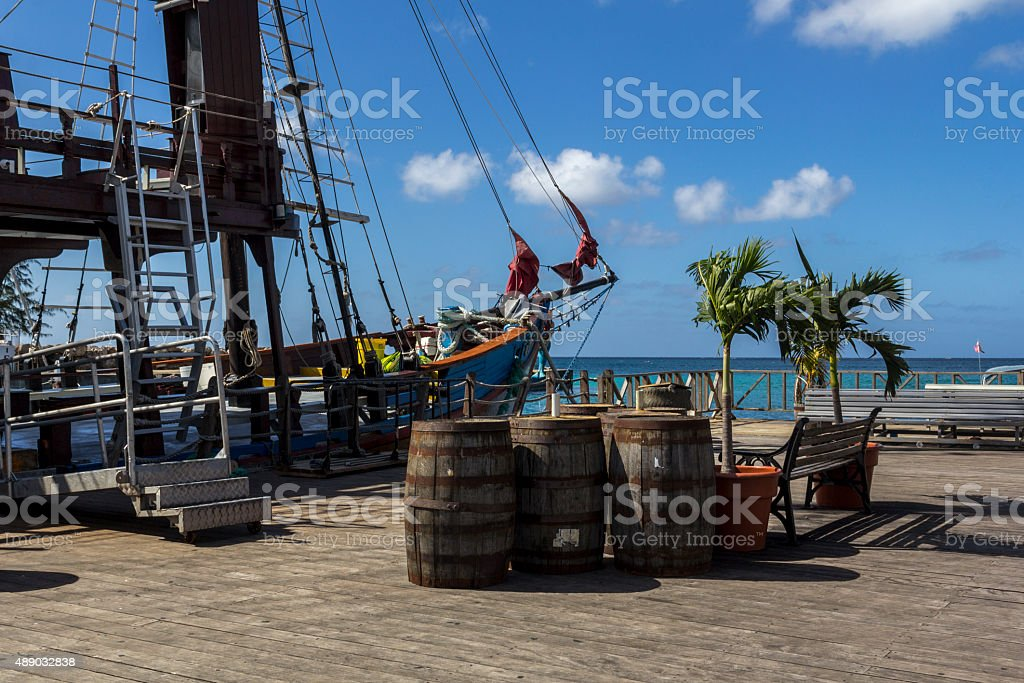 Commercial pirate ship stock photo