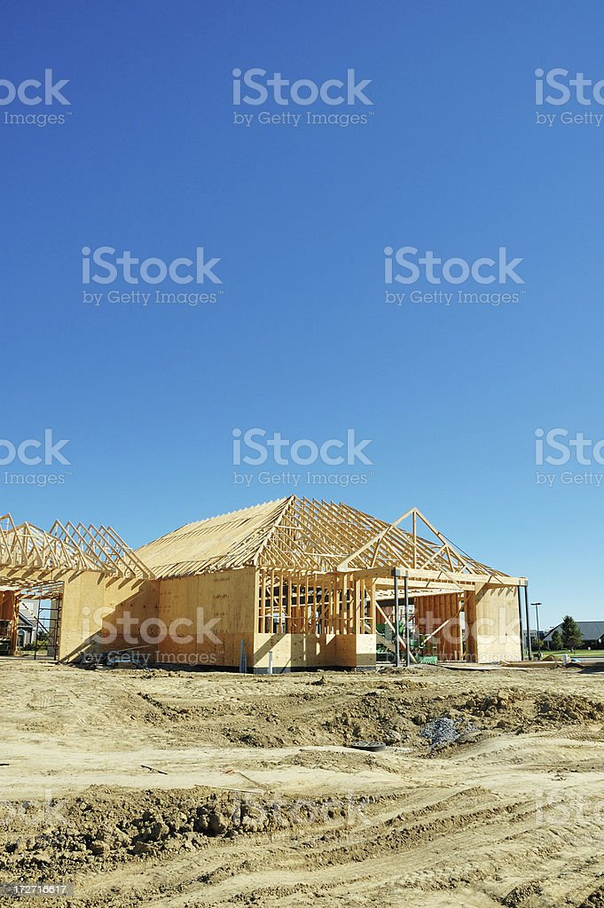 Commercial Real Estate Construction Site stock photo