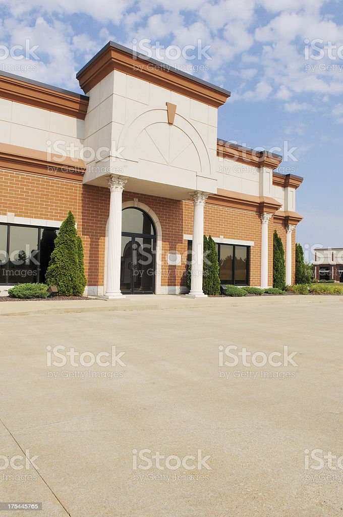 Commercial Real Estate Empty Office Building Available royalty-free stock photo