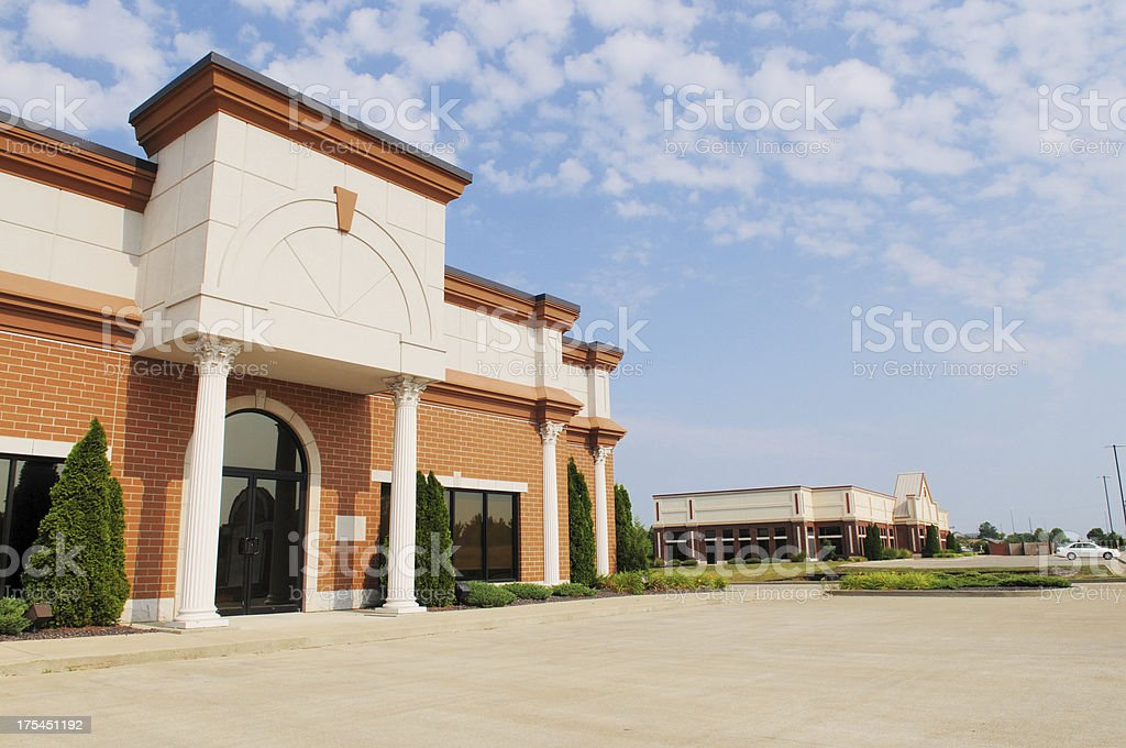 Commercial Real Estate Empty Office Building Available stock photo