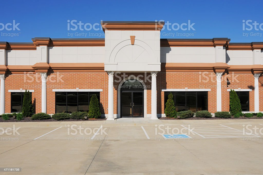 Commercial Real Estate Multipurpose Building royalty-free stock photo