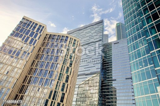 1157587322 istock photo Commercial real estate skyscrapers 1148588473